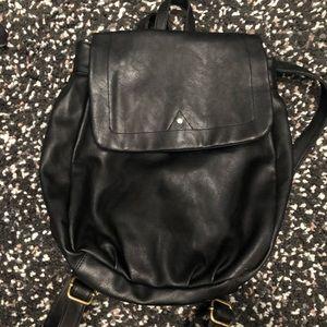 Merona Black Faux Leather Backpack